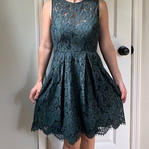 NWT Anthropology Hitherto Forrest Green Lace Dress